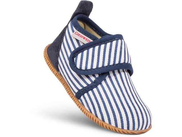 Giesswein Salach Zapatillas de Casa Niños, blanco/azul